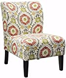 Signature Design by Ashley - Honnally Contemporary Accent Chair - Floral Multi-Color