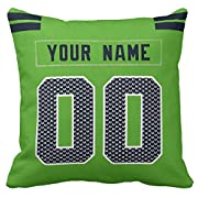 100% Polyester Custom Football personalized Throw Pillow Covers is easy! Add a note to your order Player name and Number, We'll handle the rest. The processing time is about 5-11 days to prepare your order. print personalized select any name & any nu...