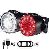 Éclairage de vélo, LED Étanche 6 Modes de Luminosité Feu...