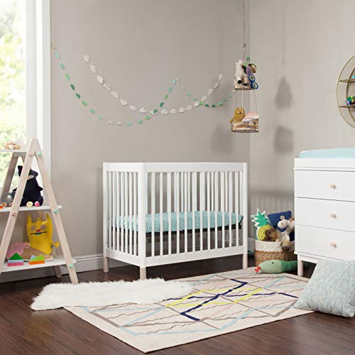 Product Image 9: Babyletto Gelato 4-in-1 Convertible Mini Crib in White / Washed Natural, Greenguard Gold Certified