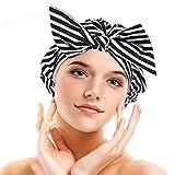 Hugttt Lot de 2 bonnets de douche imperméables réutilisables pour femmes...