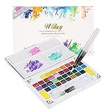 Ulikey Set de Peinture Aquarelle - Boîte d'Aquarelle avec 36 Couleurs +...