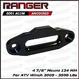 Ranger ATV Aluminum Hawse Fairlead 2000-3500 LBs ATV Winch 4 7/8' (124MM) Mount Ultranger Glossy (Black)