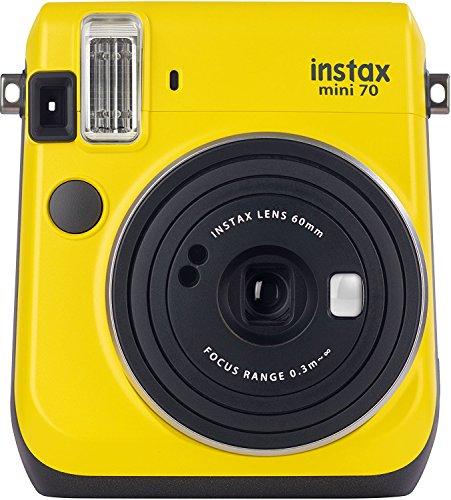 Fujifilm Instax Mini 70 - Cámara analógica instantánea (ISO 800, 0.37x, 60 mm, 1:12.7, flash automático,...