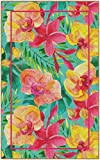 Brumlow MILLS Tropical Flowers Colorful Floral Print Area Rug for Kitchen, Entryway, Living Room or Bedroom, 2'6' x 3'10', Rectangle, Pink