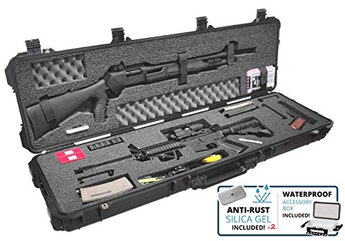 Case Club 3 Gun Competition Pre-Cut Waterproof Case with Accessory Box and Silica Gel to Help Prevent Gun Rust (Gen 2)