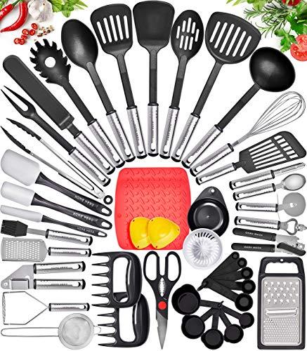 Home Hero Kitchen Utensil Set Cooking Utensils Set - Nylon Kitchen Utensils Set Kitchen Tool Set 44 Pcs. Cooking...