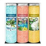 Nortembio Sels d'Epsom Pack 3 x 430 g. Fragances de Jasmin, Cannelle et Noix de...