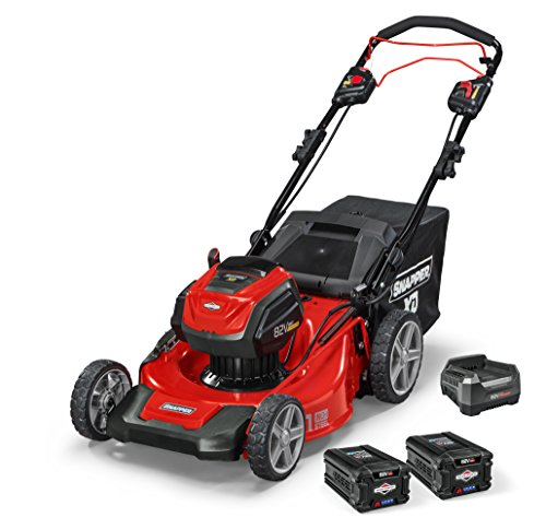 Snapper XD 82V MAX Cordless Electric 21' Self-Propelled Lawn Mower, includes Kit of 2 2.0 Batteries & Rapid Charger