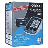 OMRON M700 Intelli IT – Oberarm-Blutdruckmessgerät mit Bluetooth und Intelli Wrap-Manschette