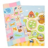Baby Care Play Mat - Playful Collection (Busy Farm, Large) - Play Mat for Infants  Non-Toxic Baby Rug  Cushioned Baby Mat Waterproof Playmat  Reversible Double-Sided Kindergarten Mat