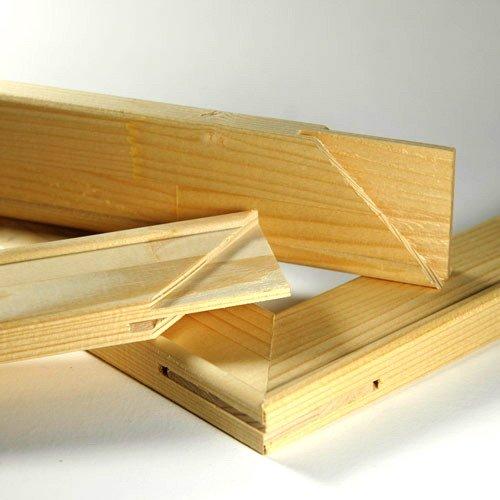 arthof Keilrahmenleisten Set zum Selbstbau Keilrahmen im Format 120 x 50 cm / 50 x 120 cm