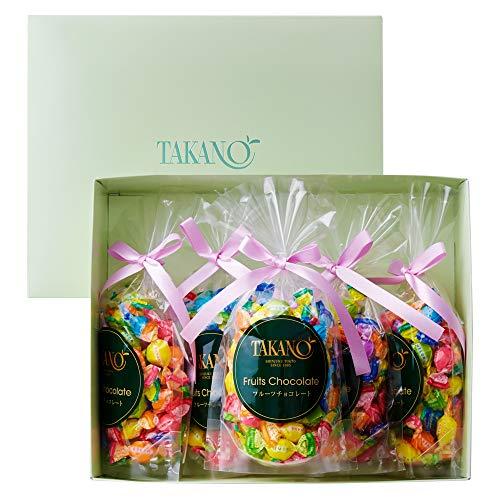 新宿高野 フルーツチョコレート5入EA (ギフト セット) 贈り物  バレンタインデー/ホワイトデー 7種類のフルーツ 5袋入り