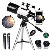 ToyerBee Telescope for Kids& Beginners, 70mm Aperture 300mm Astronomical Refractor Telescope,...