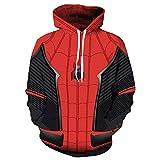 WGS Tenue de Jeu de Rôle Spiderman Imprimée en 3D avec des Pulls pour Hommes, A, XXL