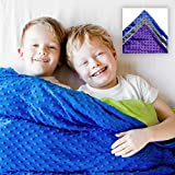 Harkla Weighted Blanket for Kids (5lbs) - Great for Sensory Seekers - Weighted Blanket for Children 30 to 40-pounds - Price Includes Duvet Cover and Weight