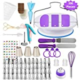 Shpebs UPDATED  | 100 Pcs  Baking Supplies Set | Rotating Cake...