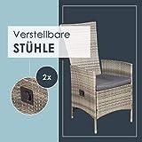 ArtLife Polyrattan Sitzgruppe Rimini Plus 9-teilig grau-meliert Gartenmöbel Set mit Tisch 8 Stühlen Kissen - 4