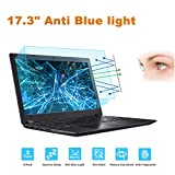 """FORITO 17.3"""" Laptop Anti Blue Light Anti Glare Screen Protector, 2-Pack Eye Protection Blue Light Blocking Screen Protector for 17.3"""" with 16:9 Aspect Ratio Laptop Screen(Size: 15' W x 8.5' H)"""