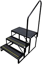 Amazon Com Outdoor Steps Stairs | 3 Step Outdoor Stairs | Diy | Portable | Entrance | Wide | Curved Front Porch