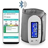 MedX5 Bluetooth Oberarm-Blutdruckmessgerät mit Gratis App für iOS und Android, kabelloses Blutdruckmesser mit EXPORTFUNKTION der Messwerte