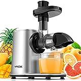 Extracteur de Jus VPCOK, Presse à Froid, Extracteur de Jus de Fruit et Légumes, Slow Juicer Silencieux, Extracteur à Jus de Fruit et de Légumes avec 2 vitesse sans BPA
