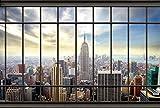 Scenolia Papier Peint Intissé New York Depuis le Bureau 4 x 2,70m - Décoration...