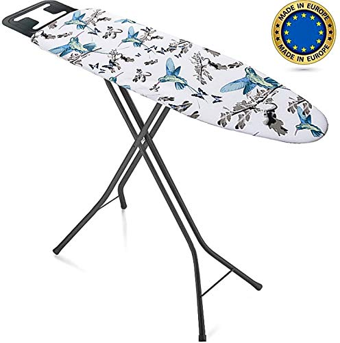 Bartnelli Rorets Ironing Board Made in Europe | Iron Board with Cover Pad, Height Adjustable, Safety Iron Rest,...