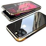 【YMXPY】表面強化ガラス+背面強化ガラス iPhone11 Pro Max ケース ガラス アルミバンパー 360……