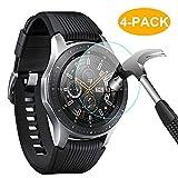 【Pacchetto】 L'intero pacchetto è dotato di 4 protezioni per schermo Samsung Galaxy Watch da 46 mm, ciascuna con le sue salviette umidificate e asciutte per pulire lo schermo Versa prima dell'installazione, con una piccola ventosa. Incredibilmente fac...