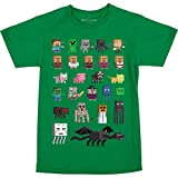 JINX Minecraft Big Boys' Sprites Premium Cotton T-Shirt (Kelly Green, Large)