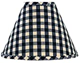 Home Collection by Raghu Heritage House Candle Clip Lampshade, 6', Black Check