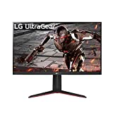 """LG 32GN650-B 32"""" Ultragear QHD (2560 x 1440) Gaming Monitor with 165Hz Refresh Rate with 1ms Motion Blur Reduction, HDR 10 Support and AMD FreeSync – Black"""