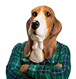 Nature Latex Halloween Party Latex,Bowser Basset Hound Mask Animal Mask Cosplay Costume Prop