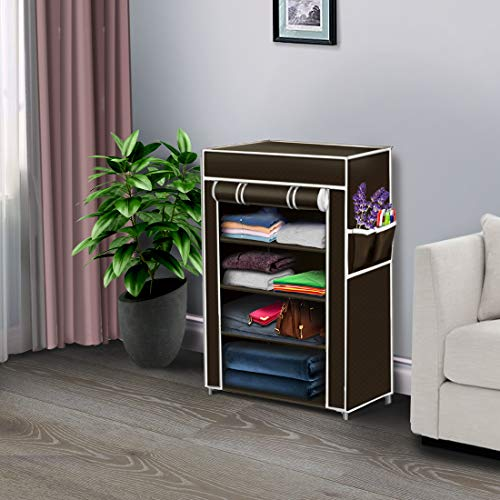 THOS Mini Fancy and Portable Foldable Collapsible Closet/Cabinet 4 Drawers/Shelves (Need to Be...