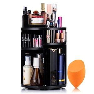 Mokaro 360 Degree Rotating Makeup Organizer for Mothers Day Gifts Extra Large Capacity Adjustable Multifunctional… 48