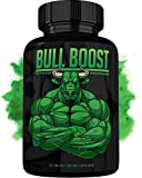 Bull Boost Male Testosterone Booster (1 Month Supply) - Enlargement Booster for Men - Increase Size, Strength, Stamina - Energy, Mood, Endurance Boost - All Natural Enhancing Supplement - Made in USA