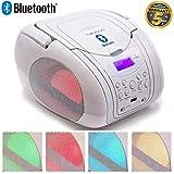 Lauson CP456 Lecteur CD Bluetooth Portable avec Lumières LED Multicolores |...