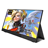13.3'' inch Portable Monitor Full HD 1080P IPS Display Built-in Dual Speakers Computer Gaming Monitor with HDMI PD Type-C for Raspberry Pi Wiiu Xbox 360 PS4 PS3 Nintendo Switch …
