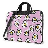 15.6″Durable Hombro Mensajero Bolsa maletín PC Huevo Frito P Moda Impermeable Ordenador Portátil/portátil/Tablets