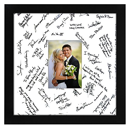 Americanflat 14x14 Black Wedding Signature Picture Frame...