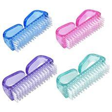 Dokpav 4PCS Cepillo De Uñas, Cepillo de Limpieza para Uñas, Cepillos para Uñas Mano Cepillo de Limpieza, Cepillo de Mano de Fregar Limpieza, Cepillo de Mango Pequeño para Limpieza y Limpieza de Uñas