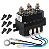 WATERWICH 12V 250A Winch Solenoid Relay Contactor with 6 Protecting caps Universal for ATV UTV 1500-5000lbs Winch (250A)