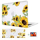 Lalumix A1932 MacBook Air 13 Inch Case, Rubberized Protective Laptop Case Shell Set for Mac Air 13' (2018 Newest Version Air 13'', Embrace Sunflower