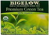 Bigelow Premium 100-Percent Organic Green Tea 150-Count Box, Individually Wrapped Teas