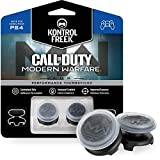 KontrolFreek Call of Duty: Modern Warfare - A.D.S. Performance Thumbsticks for PlayStation 4 (PS4)   2 High-Rise, Concave   Transparent/Black