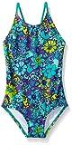 Kanu Surf Girls' Big Chloe Beach Sport 1-Piece Swimsuit, Karlie Floral Purple, 7
