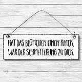 Schmetterling - Dekoschild Türschild Wandschild Holz Deko Schild 10x30cm Holzdeko Holzbild Deko Schild Geschenk Mitbringsel Geburtstag Hochzeit Weihnachten
