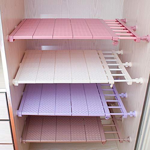 Ripiani estensibili per armadio, organizer per armadio, organizer per vestiti, guardaroba, organizer per vestiti, guardaroba, regolabile, per bricolage, guardaroba, divisorio