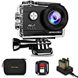 4K Action Camera 20MP Underwater Waterproof Camera 40M 170°Wide-Angle WiFi Sports Camera with 2.4G...